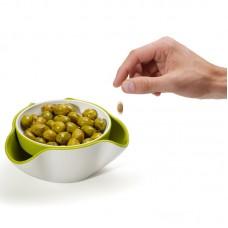 Блюдо для снека Double Dish™ белое/зеленое