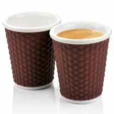 Набор чашек Honeycomb 180 мл коричневый