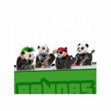 Набор магнитных закладок Pandas Rock