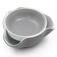Блюдо для снека Double Dish™ серое