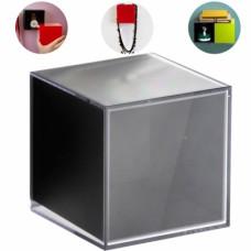 Полка-вешалка Pixel прозрачно-черная