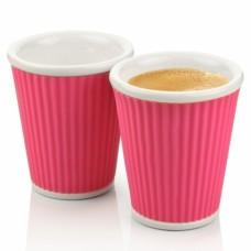 Набор чашек Ondules 180 мл розовый