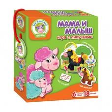 Игра настольная с липучками Мама и малыш